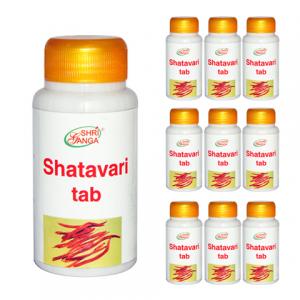 Шатавари Шри Ганга (Shatavari Shri Ganga), 10 упаковок по 120 таблеток