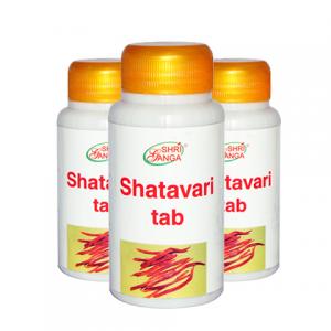 Шатавари Шри Ганга (Shatavari Shri Ganga), 3 упаковки по 120 таблеток