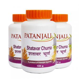 Шатавари Чурна Патанджали (Shatavar Churna Patanjali), 3 упаковки по 100 грамм