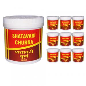 Шатавари Чурна Вьяс Фармасьтикалс (Shatavari Сhurna Vyas Pharmaceuticals), 10 упаковок по 100 грамм порошка