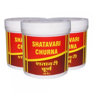 Шатавари Чурна Вьяс Фармасьтикалс (Shatavari Сhurna Vyas Pharmaceuticals), 3 упаковки по 100 грамм порошка