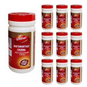 Шатавари Чурна Дабур (Shatawaryadi Сhurna Dabur), 10 упаковок по 60 грамм порошка