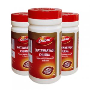 Шатавари Чурна Дабур (Shatawaryadi Сhurna Dabur), 3 упаковки по 60 грамм порошка
