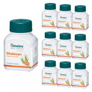 Шатавари Гималая (Shatavari Himalaya), 10 упаковок по 60 таблеток