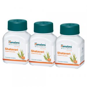 Шатавари Гималая (Shatavari Himalaya), 3 упаковки по 60 таблеток