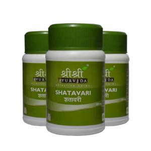 Шатавари Шри Шри Аюрведа (Shatavari Sri Sri Ayurveda), 3 упаковки по 60 таблеток
